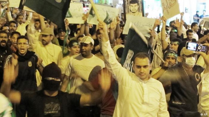 Saudi Shia protestors demand equality during the 2011 Arab Spring