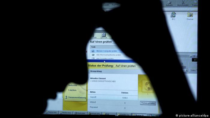 Symbolbild Computervirus (picture-alliance/dpa)
