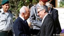 Staatsbesuch Gauck Israel Peres
