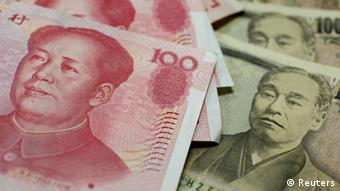 China Japan Währung Yuan Yen