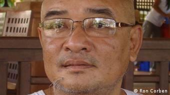 Das Fotos jetzt ist von Myanmar Komiker und Aktivist Zarganar Fotos, die von unserem DW Korrespondenten Ron Corben gemacht worden sind. Er gibt DW die Rechte in der Email. 29.5.2012
