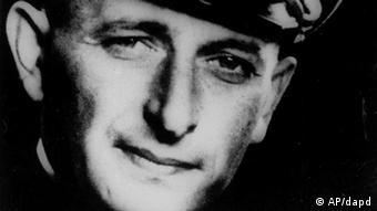 Adolf Eichmann in his Nazi SS officer uniform