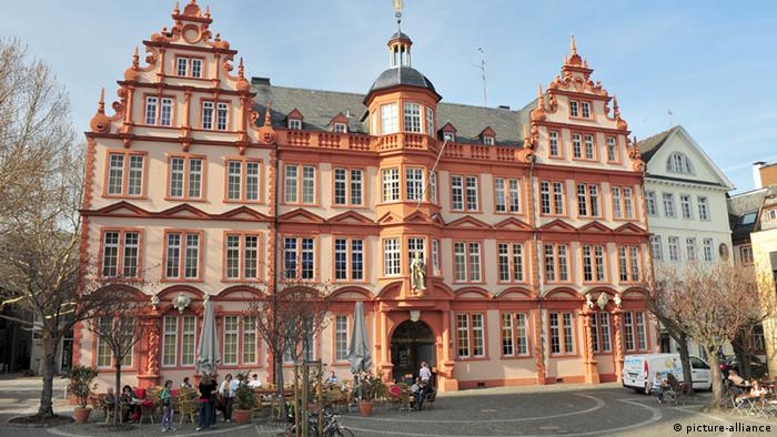 Außenansicht des historischen Gebäudes des Gutenberg-Museums