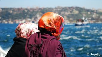 Turkish women on a boat near Bosphorus