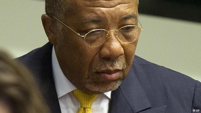 Former Liberian President Charles Taylor in the courtroom of the Special Court for Sierra Leone (Photo:Toussaint Kluiters, Pool/AP/dapd)