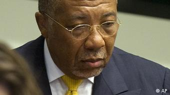 Former Liberian president at the Special court for Sierra Leone in the Hague.(Foto:Toussaint Kluiters, Pool/AP/dapd)