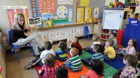 USA Schule Unterricht der Mitchell Elementary School in Iowa