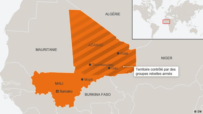 Un Mali coupé en deux, c'est la situation qui prévaut jusqu'au début de l'intervention militaire en janvier 2013