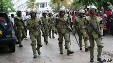 Tansania Sansibar Wahl Wahlen Polizei CUF