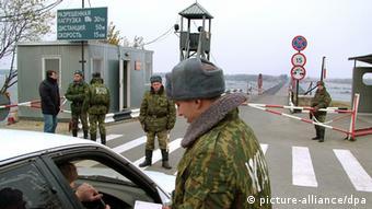Grenzübergang Checkpoint China Russland