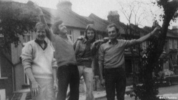 From left to right,Eric, Michael, unidentified friend and Michael in London in early 70s.