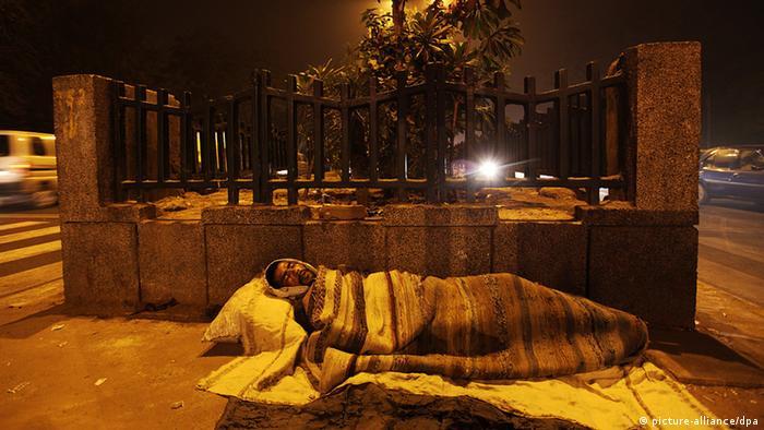 Obdachloser Neu Delhi Indien