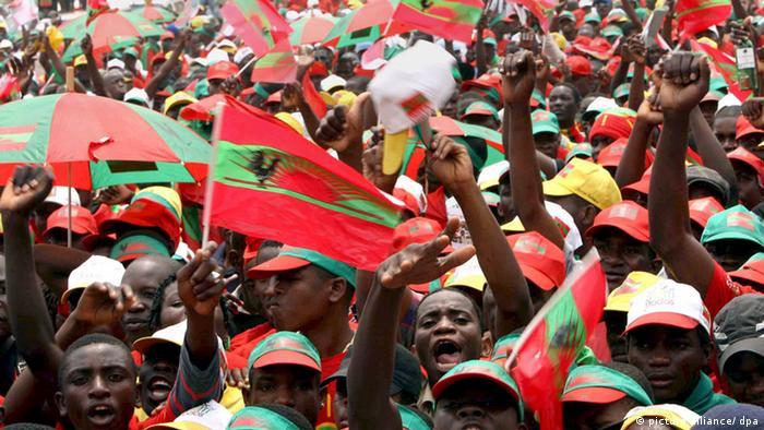 Apoiantes da UNITA nas eleições de 2008