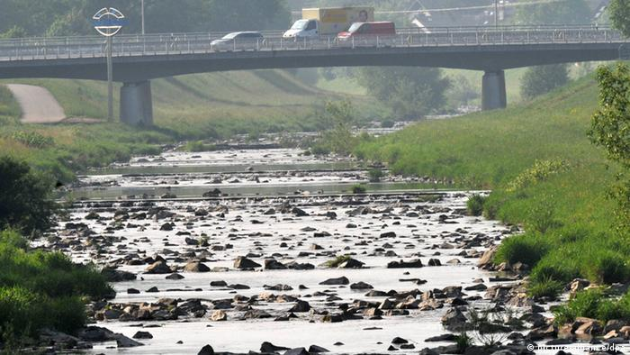 Deutschland Ausgetrocknetes Flussbett (Foto: dpa)