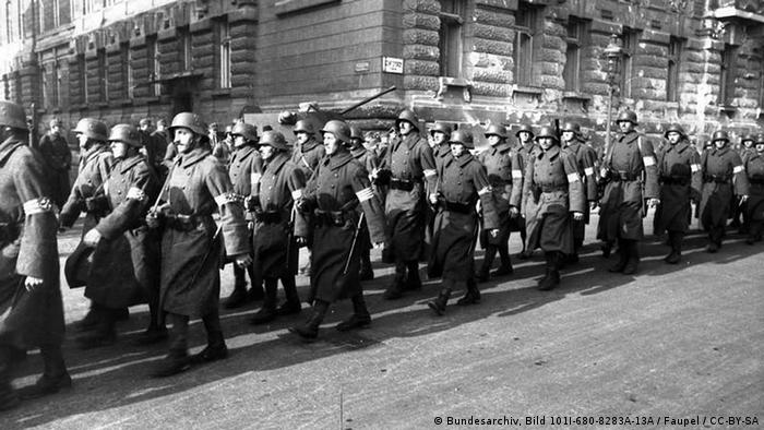 An Arrow Cross Party rally in Budapest in 1945