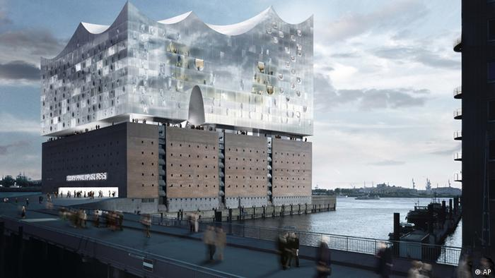 Graphic showing the Elbphilharmonie concert call.