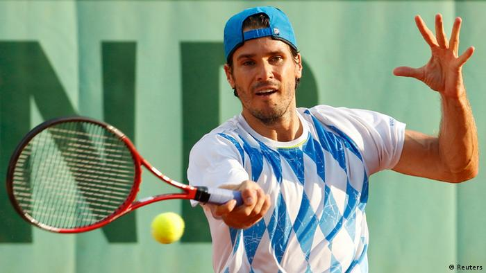 Tommy Haas in his first round match.