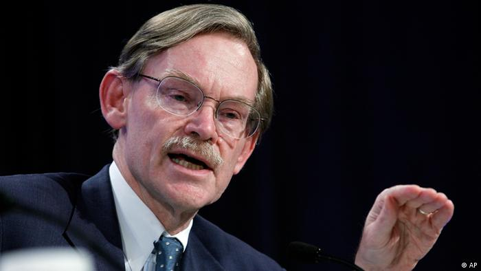 World Bank Group President Robert Zoellick speaks during a news conference at IMF/ World Bank Annual Meetings at IMF headquarters in Washington, on Saturday, Sept. 24, 2011. Global finance officials pledged Saturday to take bolder moves to confront a European debt crisis that threatens to plunge the world into another deep recession. But sharp disagreements about exactly what to do can't offer much reassurance to markets rocked by uncertainly in recent weeks. (ddp images/AP Photo/Jose Luis Magana)