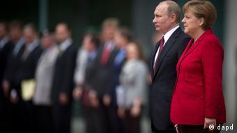 Меркель и Путин в Берлине 1 июня 2012 года
