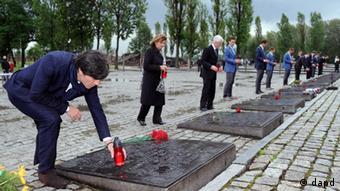 DFB Delegation in Konzentrationslager Auschwitz