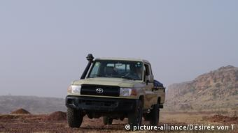 Smugglers vehicle in the Sahel