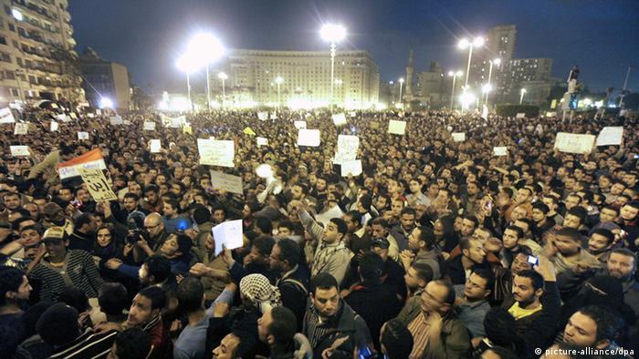 Protest auf dem Tahir Platz in Kairo (30.01.2011)