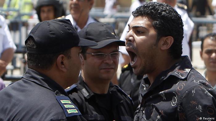 یکی از معترضان خشمگین مخالف حسنی مبارک در میدان تحریر قاهره