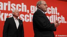 Oskar Lafontaine und Gregor Gysi beim Parteitag der Linken in Göttingen