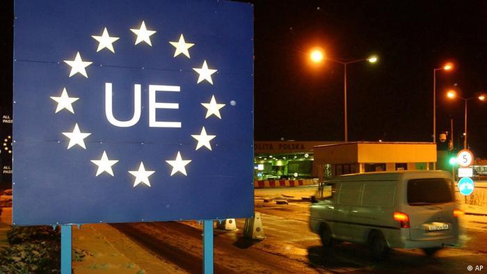 Въезд на территорию ЕС на польско-украинской границе