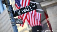 Wall Street New York Schild Wegweiser