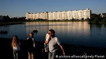 Перед Дворцом спорта в Минске