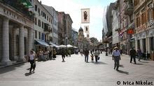 Straße Korzo in Rijeka Kroatien
