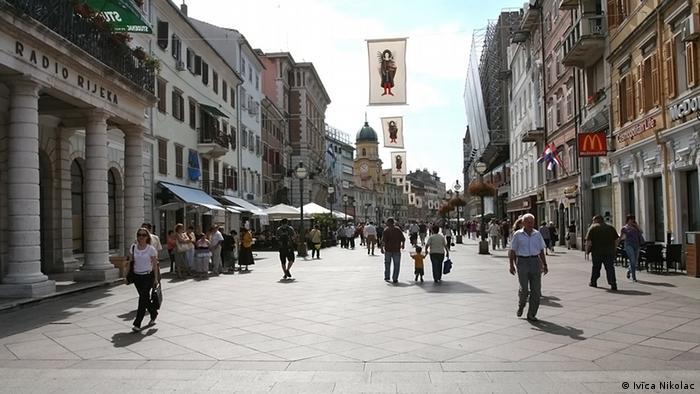 Straße Korzo in Rijeka Kroatien (Ivica Nikolac)