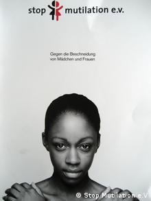 Poster ad against female genital mutilation by stop multilation e.v.