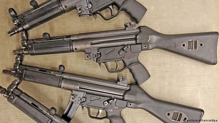 German Typs MP5 machine +++(c) dpa - Bildfunk+++