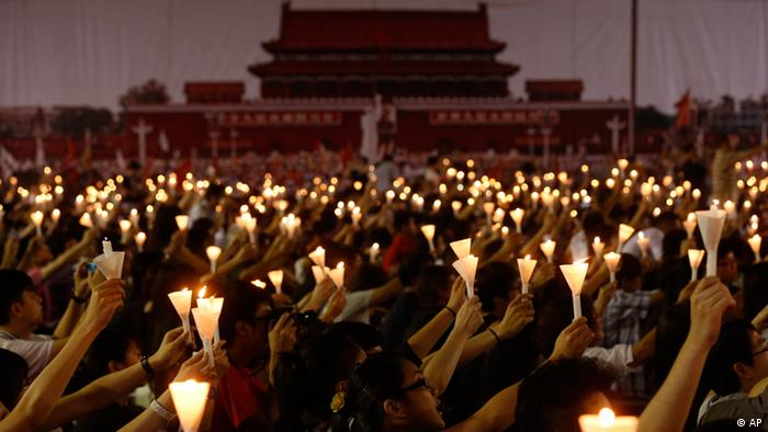 Hong Kong Tiananmen Gedenktag 2012