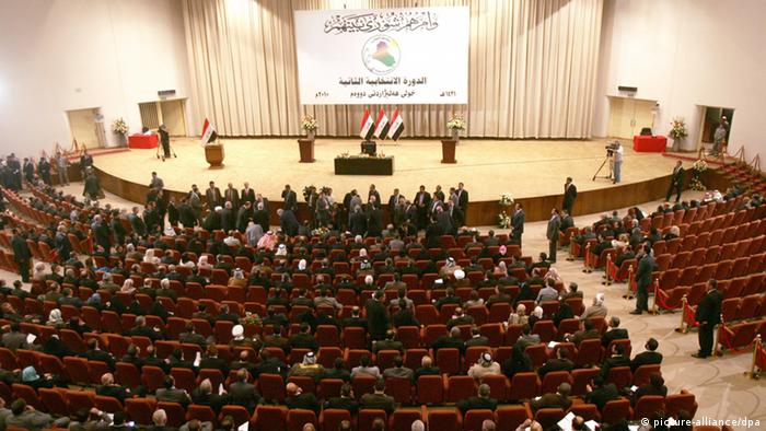 Iraqi parliament officials gather to elect their speaker in Baghdad EPA/ALI ABBAS +++(c) dpa - Bildfunk+++