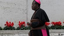 Archbishop of Kinshasa, Democratic Republic of Congo, Laurent Monsengwo Pasinya arrives to attend a meeting of cardinals summoned by Pope Benedict XVI for a day of reflection at the Vatican, Friday, Nov. 19, 2010, the day before a ceremony to create 24 new cardinals. The top agenda, religious freedom, grew remarkably timely given China's planned ordination Saturday of a bishop who doesn't have the Pope's approval. The Vatican warned China that efforts at reconciliation would be set back if bishops loyal to the pope were forced to attend the ordination. The Vatican said such actions would constitute grave violations of freedom of religion and freedom of conscience.'' Pasinya is one of the 24 prelates that will be elevated to cardinal on Saturday. (ddp images/AP Photo/Alessandra Tarantino)