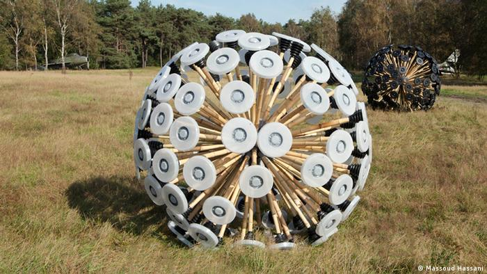 Designer Massoud Hassani developed his dandelion to clear land mines