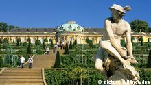 Deutschland Architektur as Schloss Sanssouci in Potsdam