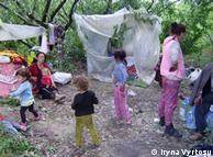 Табір ромів у Києві (архівне фото)
