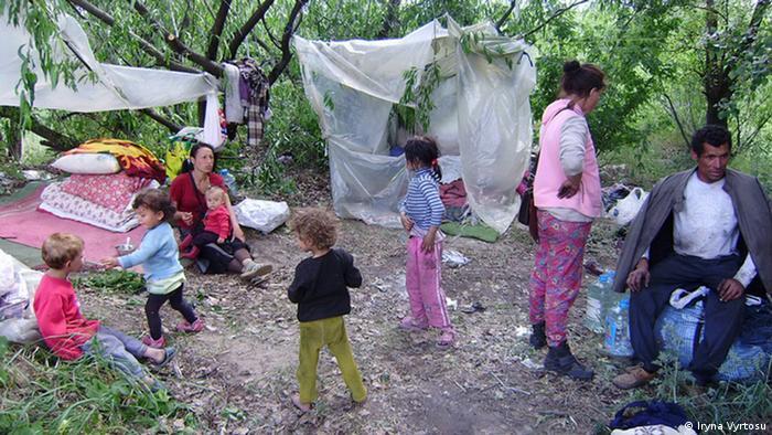 Один з ромських таборів у Києві (архівне фото)