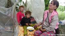 Auf den Bildern ist ein Roma-Camp in der ukrainischen Hauptstadt Kiew. All photos made ay June, 1, at Kyiv, next day after burning of roma camp happened. Jy photos - romapeople, who lived there, among them 13 yers old boy Volodya, who whant to go to school, Petro Grihorichenko, president of union Roma Congress in Ukraine. The author of photos - Iryna Vyrtosu (need to be mention on picture), she is journalist from project Human Rights Information Centre. Copyright: Iryna Vyrtosu
