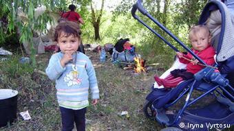 У ромських таборах мешкає багато дітей