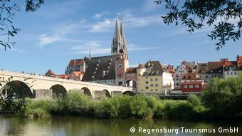 Regensburg is full of Roman, Romanesque and Gothic architecture, including the 12th century Stone Bridge pictured here.