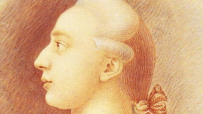 Drawing of Giacomo Girolamo Casanova.