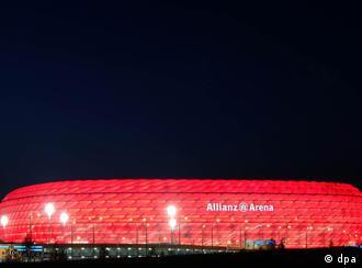 Allianz Arena: cambia de colores como el camaleón.