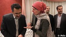 دعوتشدگان مصری در دیدار با وزیر ارشاد ایران (چپ) در تهران