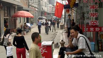 China Peking Straßenszene