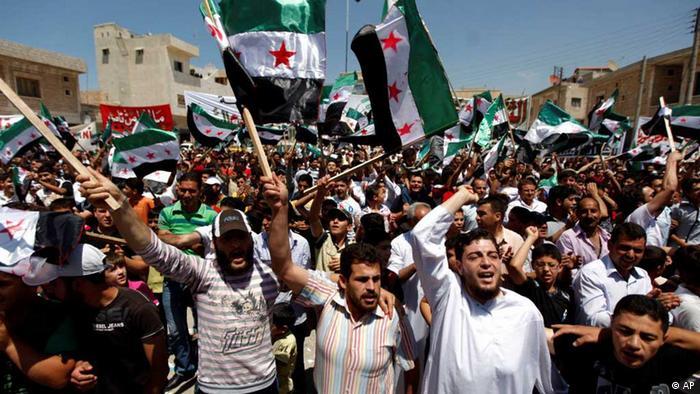 Демонстрация противников Башара Асада